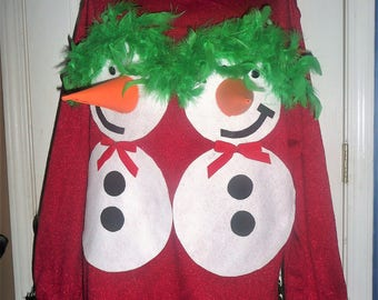 tacky Nauthy funny CUSTOM MADE by order 3D ugly Christmas sweater any size