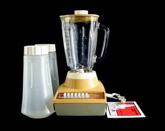 Sears Blender Harvest Gold 1970s Kitchen Appliance, Glass Blender Jar Triangular 7 Speed (Hamilton Beach twin) 400.829002 Replacement Part