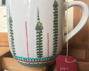 Green, Red, Teal Coffee or Tea Mug