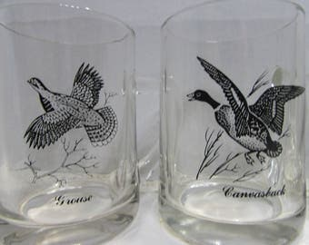 Vintage Clear Coffee Mugs featuring Geese and Ducks
