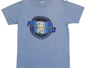 Frisbee World Shirt Vintage tshirt 1970s Flying Disc Golf Course Tee Outdoor Sports Memorabilia