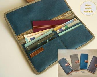 Bifold wallet / Travel wallet for women/ travel wallet for men/ Phone wallet