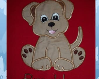 Puppy- Dog - Short Sleeve Appliqued Tshirt - Infant and Toddler Size Tshirt - 6 months to 5/6