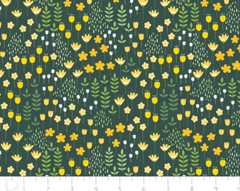 Bright Side - Meadow Pine Green by Alisse Courter from Camelot Fabrics