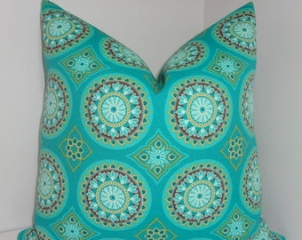 FALL is COMING SALE Outdoor Turquoise Green Medallion Pillow Covers Outdoor Deck Patio Pillow