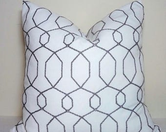 SPRING FORWARD SALE Taupe Grey White Sparkle Geometric Modern Geo Deco Home Decor by HomeLiving Size 18x18