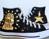 Hamilton high tops, painted shoes, hamilton the musical, hamilton, womens shoes, mens shoes