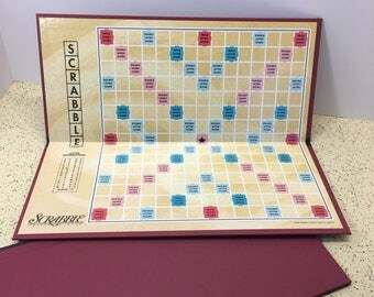 2 SCRABBLE BOARDS From Actual Games -Personalized Gifts