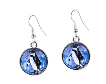 Penguin Earrings - From My painting, Southern Sweetheart by Salvador Kitti