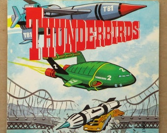 Thunderbirds picture book Day of Disaster vintage children's book