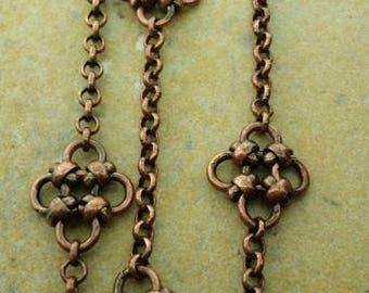 Antique copper handmade chain