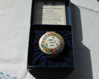 1983 Mother's Day Enamel Box Halcyon Days
