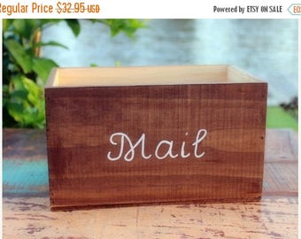 SALE Mail Holder - Rustic Mail Storage - Rustic Mail Holder - Rustic Caddy - Mail Organizer - Entryway Organizer - Wood Mail Organizer - Mai