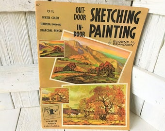 Vintage book Outdoor Sketching Indoor Painting art instruction Walter Foster 1950s- free shipping US