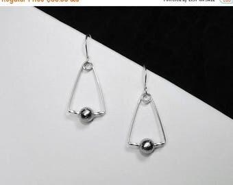 Gibeon Meteorite Earrings in Silver