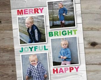 Family Holiday Card - Holiday Card - Christmas Card - Family Photo Card - Holiday Cards - Digital Holiday Card - Family Christmas Cards