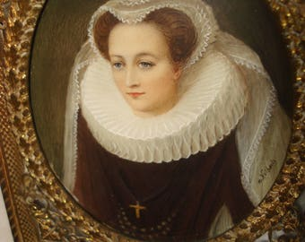 Miniature Painting Of Mary Queen of Scot's