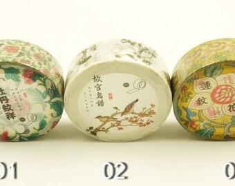 Oriental Painting - Japanese Washi Masking Tape Set - 3 rolls - 7.6 yard