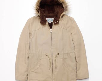 SALE - Fur Hood Jacket Men's Medium
