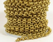 10% Off 10ft 5.7mm Rolo Chain - Raw Brass - 5.7mm Links - CH81