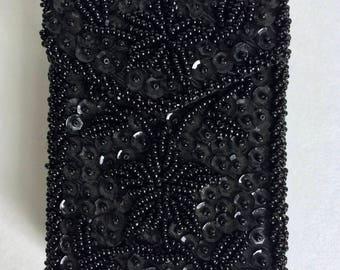 Black beaded Cigarette case