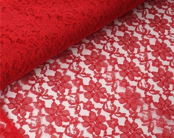 """Red Lace Table Runner White Table Runner  14"""" WIDE - SELECT A SIZE For Length - more colors available"""