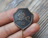 "Vintage Lithuanian copper badge,pin.""Coat of arms of Lithuania"""