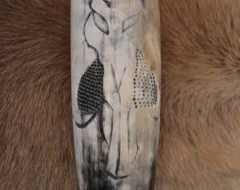 Hand Carved Mandalorian Drinking Horn
