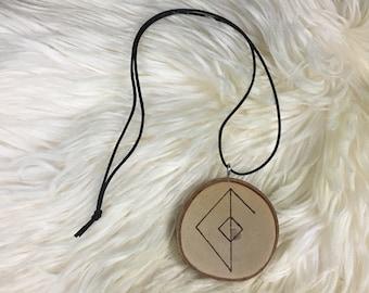 Viking Amulet - Man's Love Towards a Woman Bindrune - Norse Amulet - Asatru Jewelry - Bindrune Jewelry - Bindrune Amulet - Gift for Viking