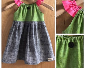 Boho Peasant Style  Cotton Sundress, child size 5