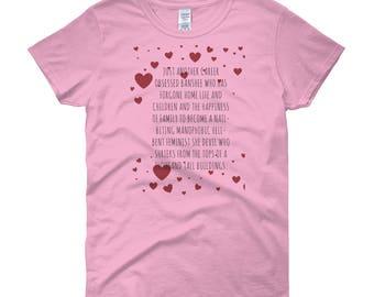 """Women's """"Manophobic"""" Short Sleeve T-Shirt"""
