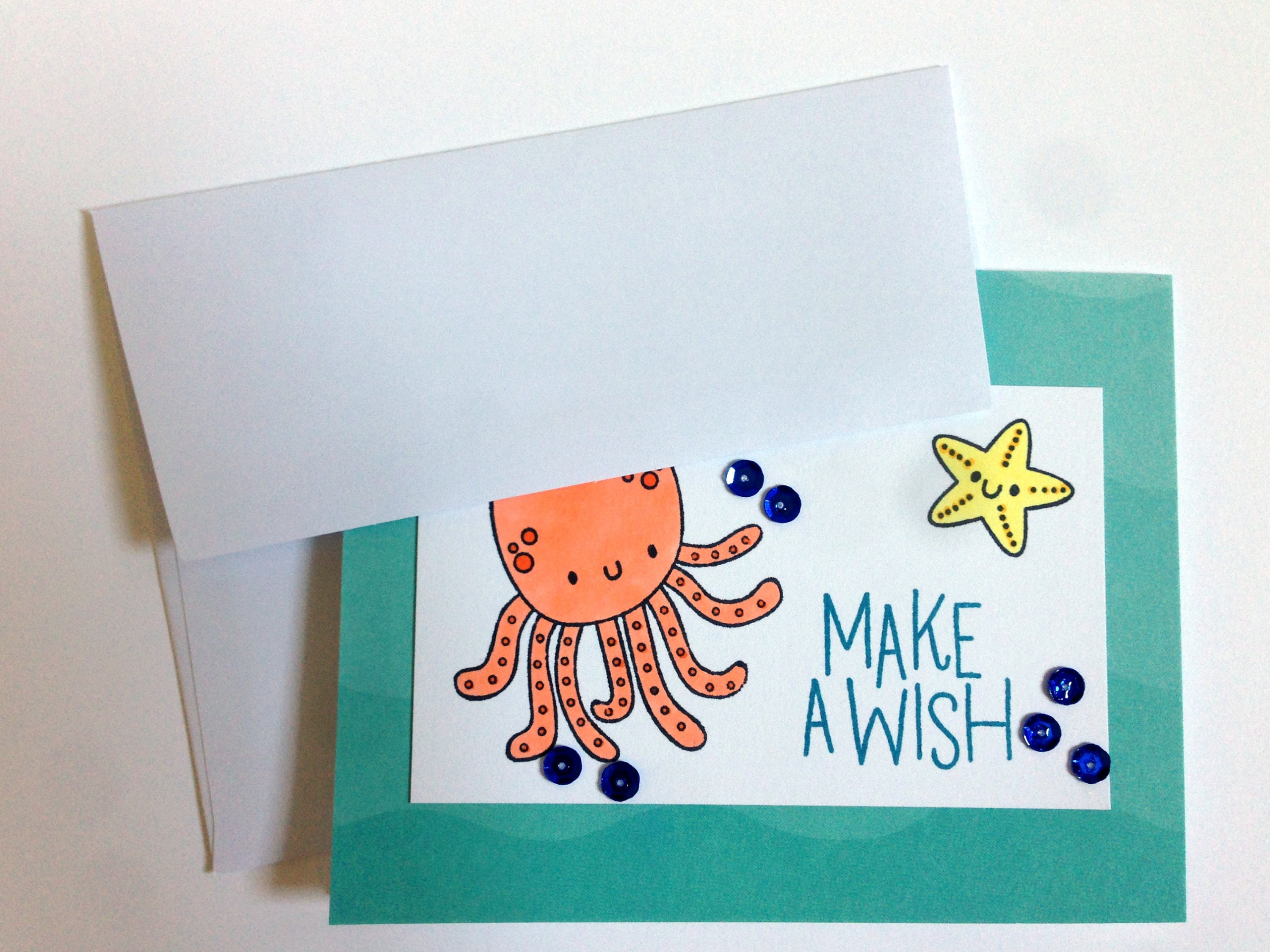 Under the Sea Card Octopus Card Little Boy Birthday Card Son