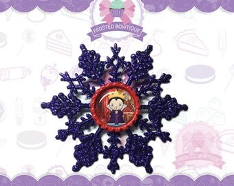 Villains: The Evil Wicked Queen Snow White Glitter Snowflake - Christmas Ornament