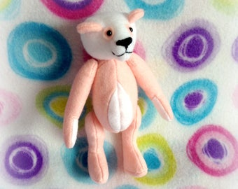 "Animal Crossing ""Pinky"" Panda ~ Felt Teddy Bear Plushie"