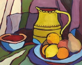 Contemporary Abstract Still Life Oil Painting