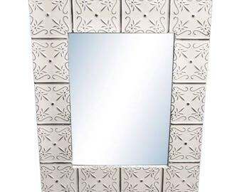 Petals 22 in. x 34 in. Tin Mirror