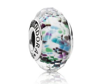 PANDORA Tropical  Sea Glass 791610 Murano Bead Charm