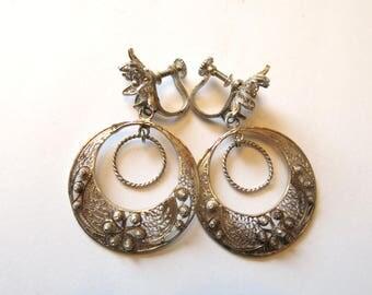 Old filigree earrings