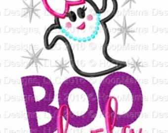 BOO-lala - Girl's holiday - Halloween Applique Shirt - Girl's Halloween Shirt - Holiday Designs - Monogrammed Shirt