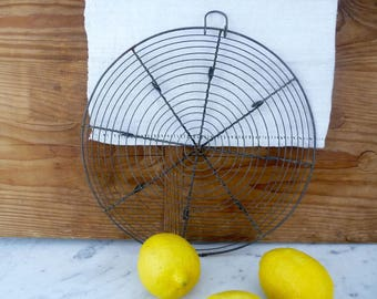 Vintage Cooling Rack, French Baking  Rack, French Wirework Wire Work Serving Tray, Cake Rack Bakeware, French Country Kitchen