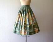RESERVED . . . 1950s novelty print skirt . vintage 50s New York City skirt