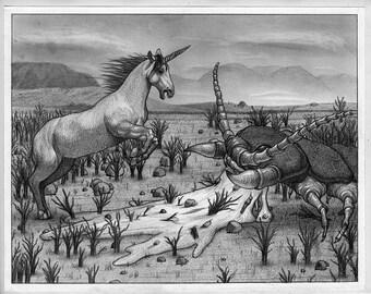 Unicorn vs. Giant Centipede