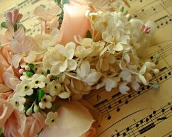 Antique Vintage Velvet Millinery Flowers Posy - #304