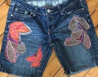 Upcycled Denim Shorts