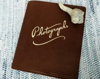 Vintage Photograph Album Unused - 40's + 50's Photo Book, New Vintage Housewarming Gift, Graduation Gift, Antique Album For Photographs