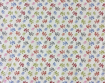 Copehagen Print Factory Ice Crystal in multicoloured 100% cotton fabric by the half metre