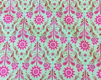 Ella Blue chirpy lola in green and pink By The Half Metre