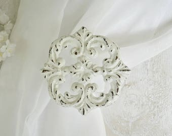 Curtain Tie Back, Drape holder, Drape Tieback, Cast Iron,Curtain Hardware Ornate