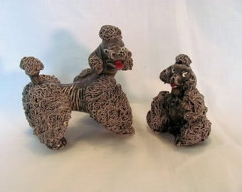 Spaghetti Poodles by Thames / Mother and Puppy Thames Spaghetti Poodles 1950's