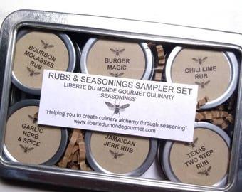 Rubs & Seasonings Sampler Set